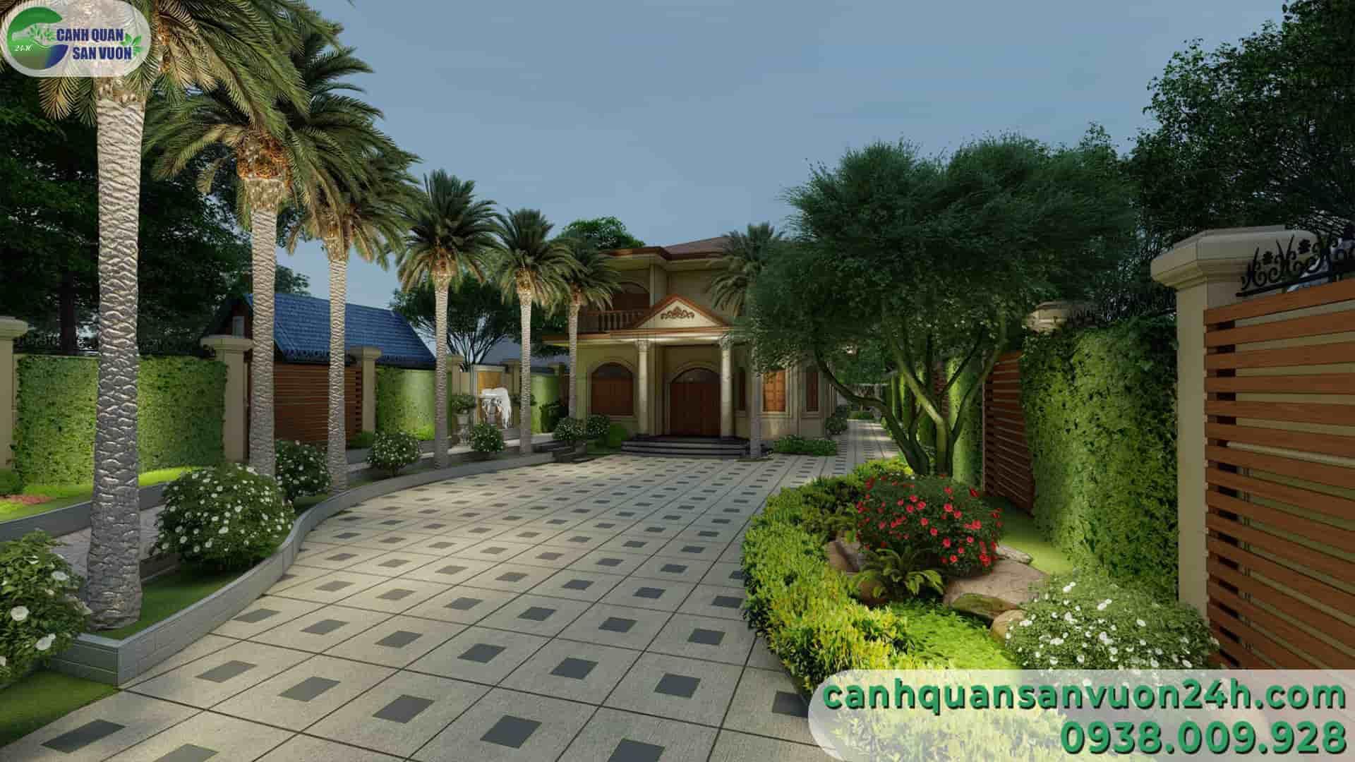 đường chính dự án thiết kế cảnh quan sân vườn