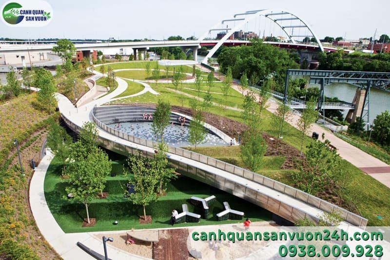 thiết kế không gian công viên