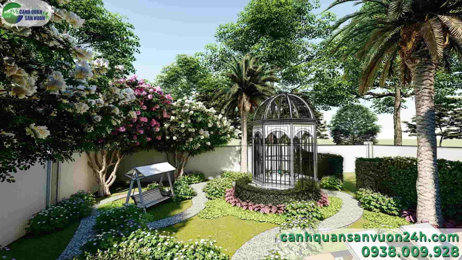 công trình phụ dự án thiết kế cảnh quan sân vườn