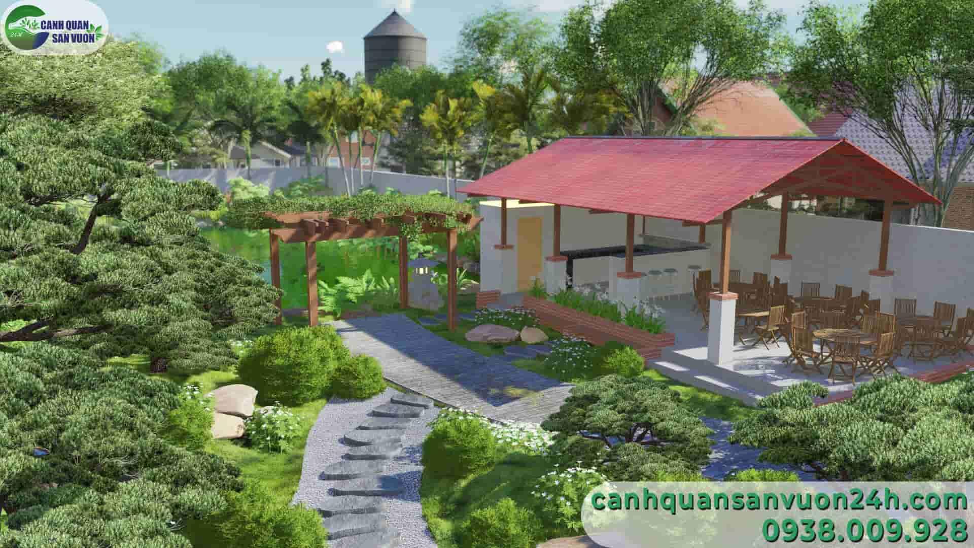 góc gần dự án thiết kế sân vườn