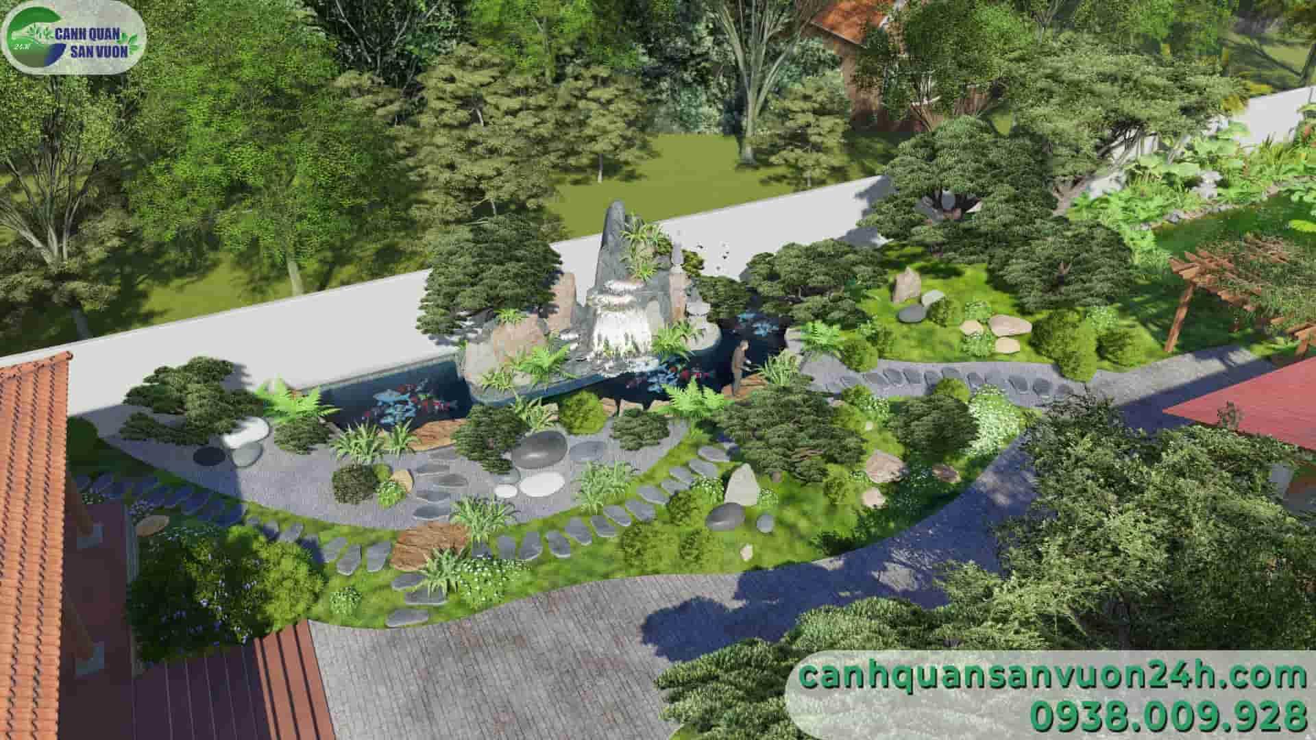 góc hòn non bộ dự án thiết kế sân vườn