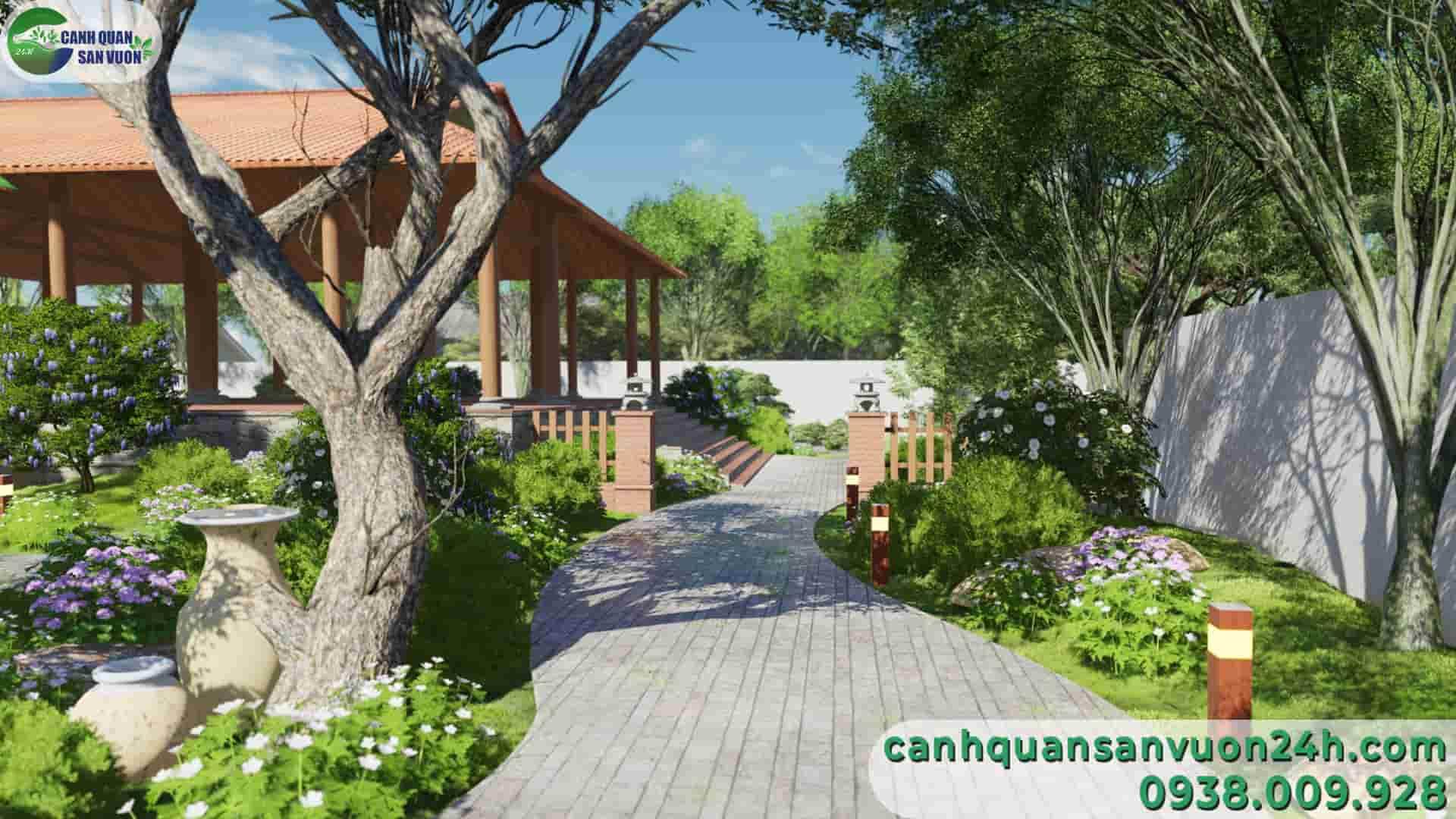 lối đi dự án thiết kế sân vườn