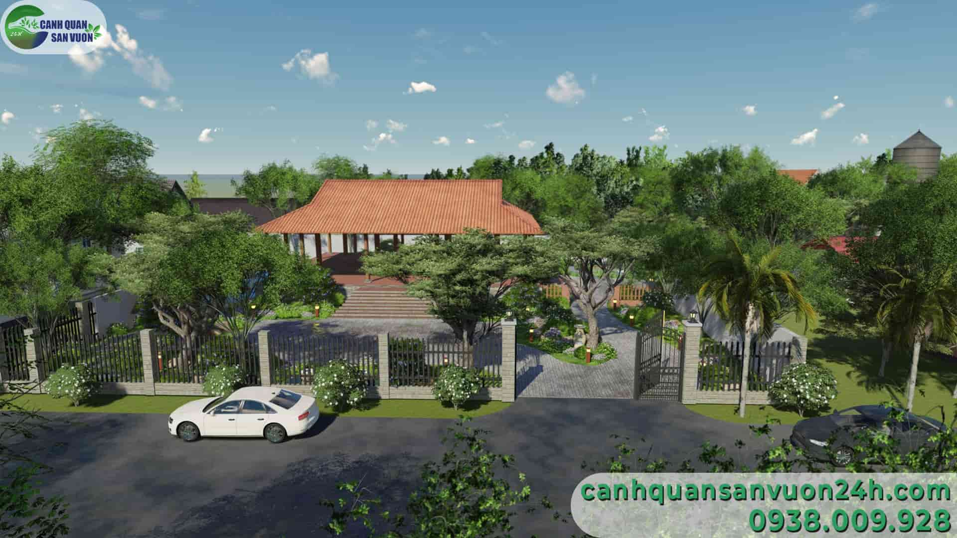 cổng dự án thiết kế sân vườn