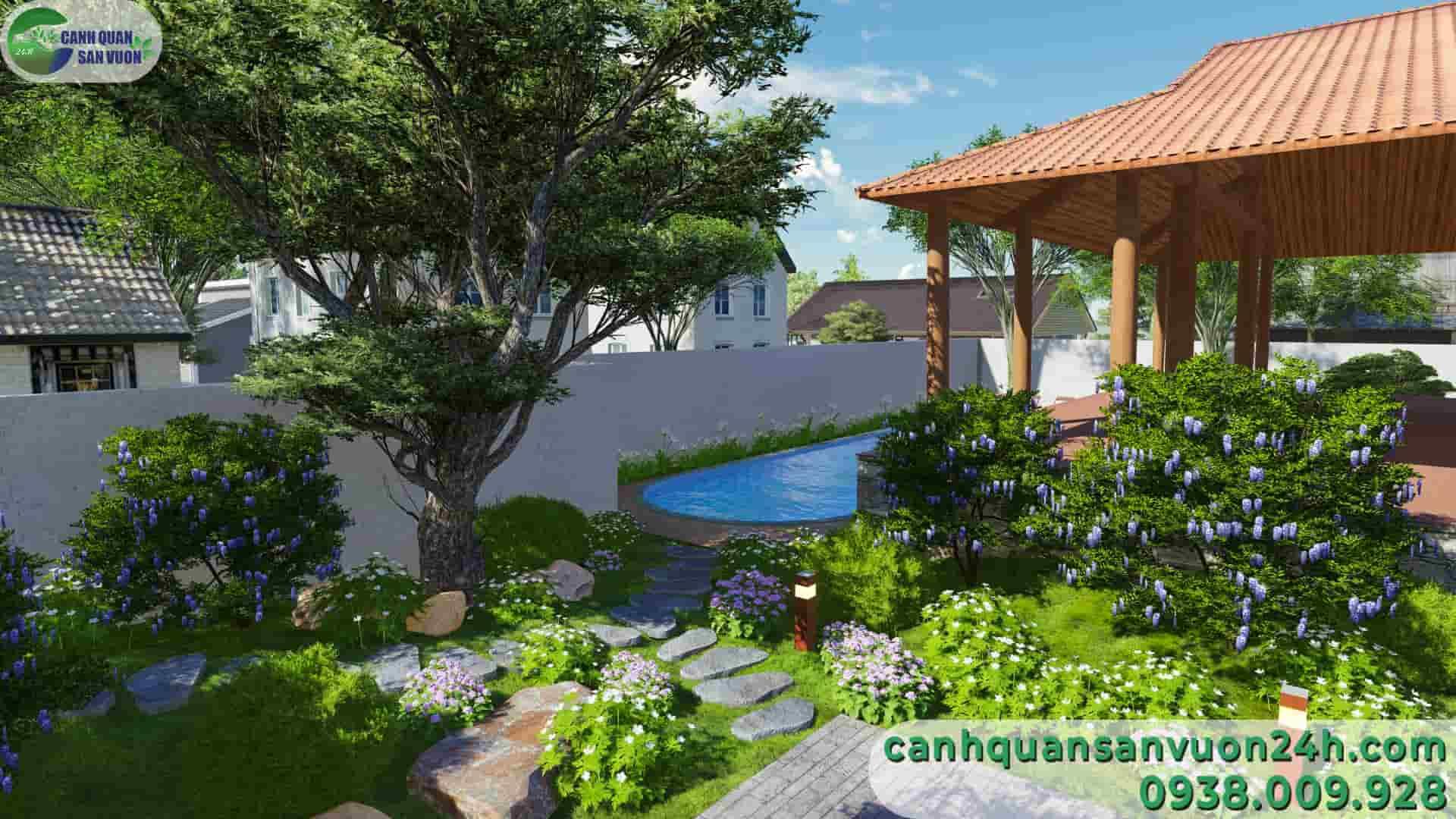 công trình phụ dự án thiết kế sân vườn