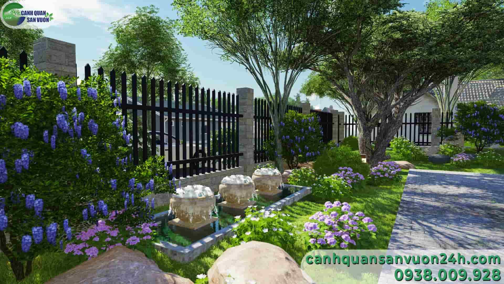 vườn tường dự án thiết kế sân vườn