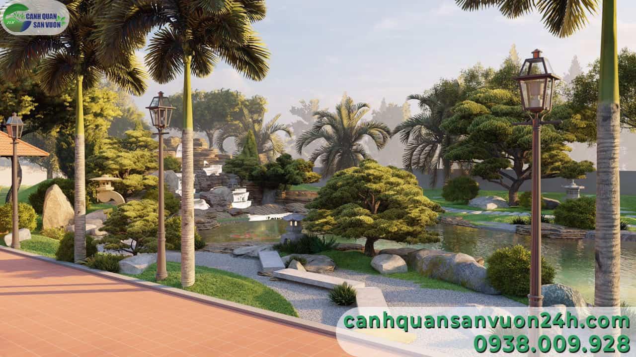 dự án thiết kế cảnh quan sân vườn