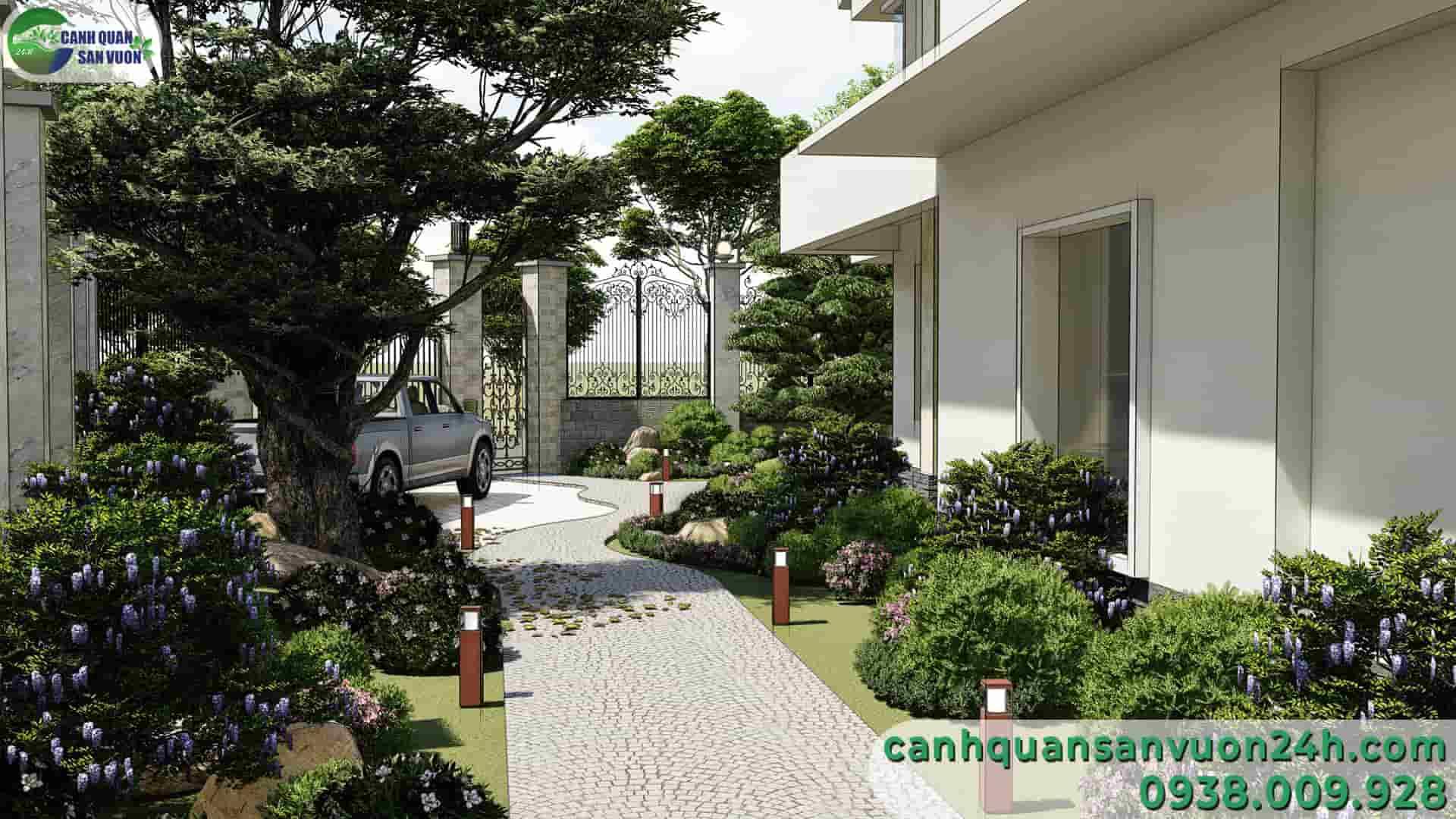 lối đi dự án thiết kế cảnh quan sân vườn
