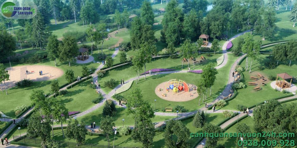 dịch vụ thi công cảnh quan công viên