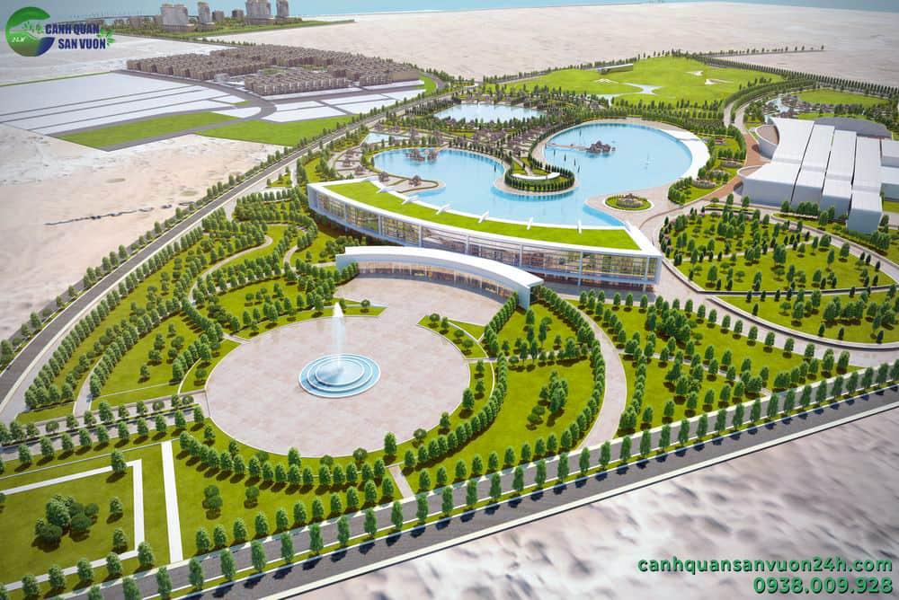 thiết kế cảnh quan công viên khu nghỉ dưỡng