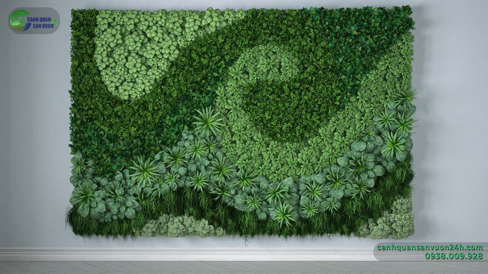 thiết kế vườn tường đầy tính nghệ thuật
